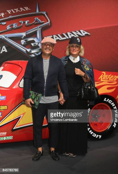 Antonio Murr and Roberta Murr attend Cars 3 photocall in Milan on September 11 2017 in Milan Italy