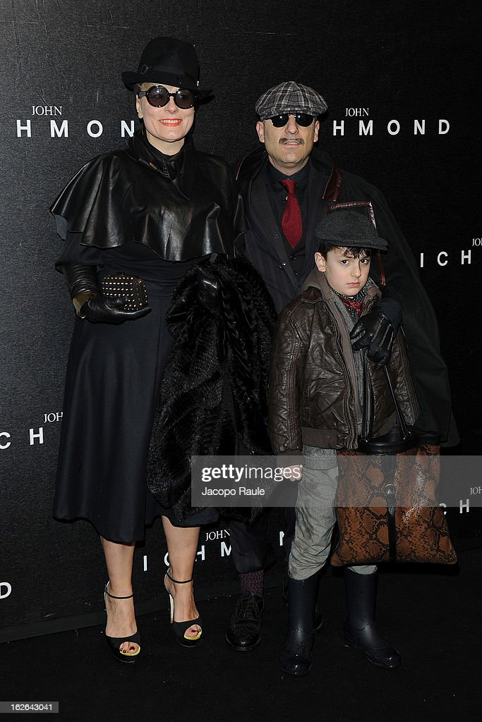 Antonio Murr and Roberta Murr attend the John Richmond fashion show as part of Milan Fashion Week Womenswear Fall/Winter 2013/14 on February 25, 2014 in Milan, Italy.