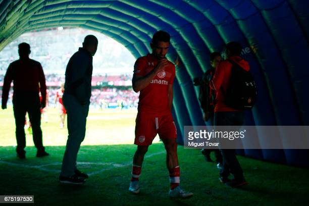 Antonio Naelson of Toluca leaves the field after losing the 16th round match between Toluca and Queretaro as part of the Torneo Clausura 2017 Liga MX...