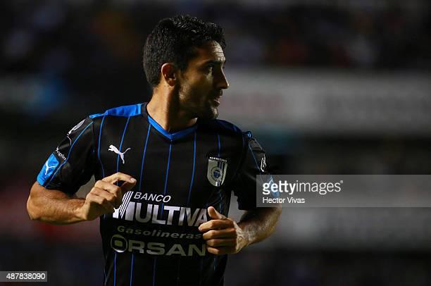Antonio Nelson Sinha of Queretaro looks on during a 8th round match between Queretaro and Morelia as part of the Apertura 2015 Liga MX at La...