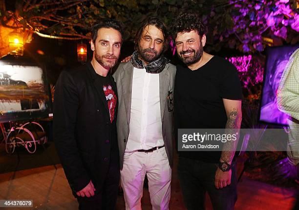 Antonio 'Nino' Del Prete Jordi Molla and Domingo Zapata attend Jordi Molla And Nino del Prette Artist Show at W South Beach on December 8 2013 in...
