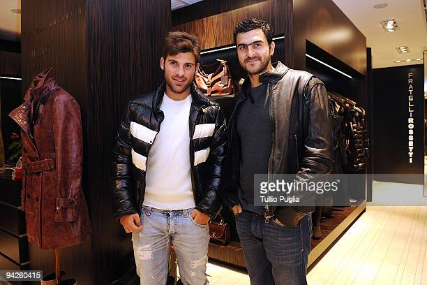 Antonio Nocerino and Fernando Rubinho players of football team US Citta di Palermo attend the opening of the new Fratelli Rossetti store on December...