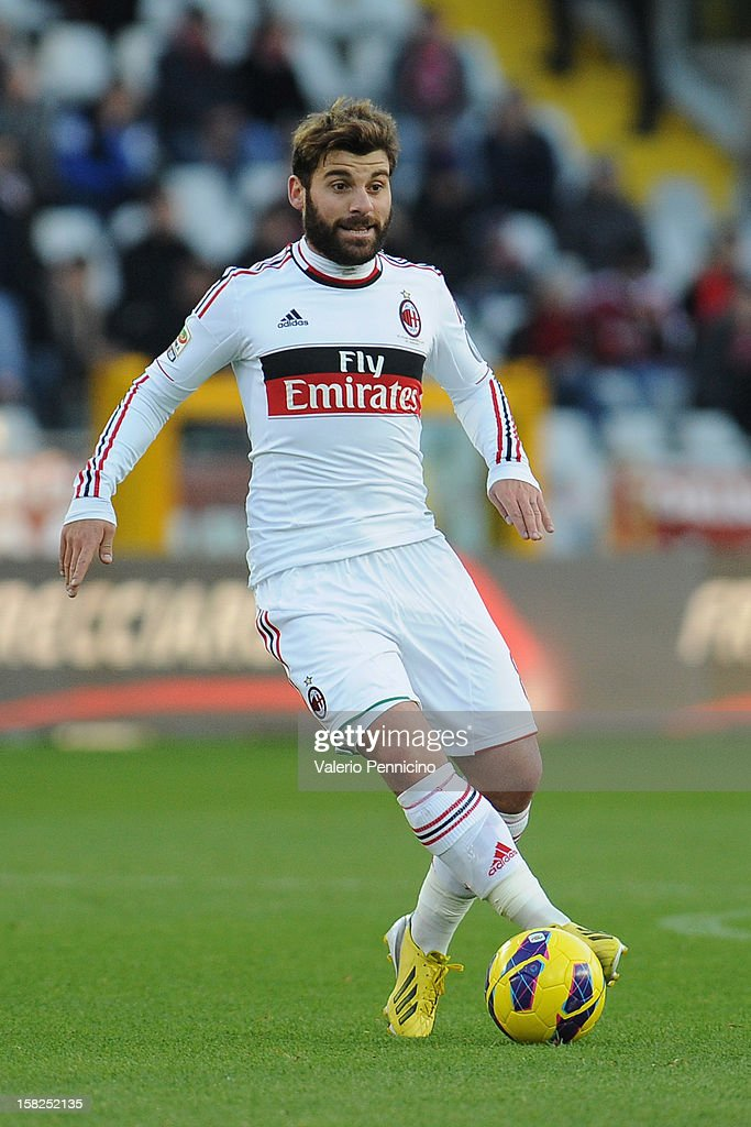 Antonio Nocerino of AC Milan in action during the Serie A match between Torino FC and AC Milan at Stadio Olimpico di Torino on December 9, 2012 in Turin, Italy.