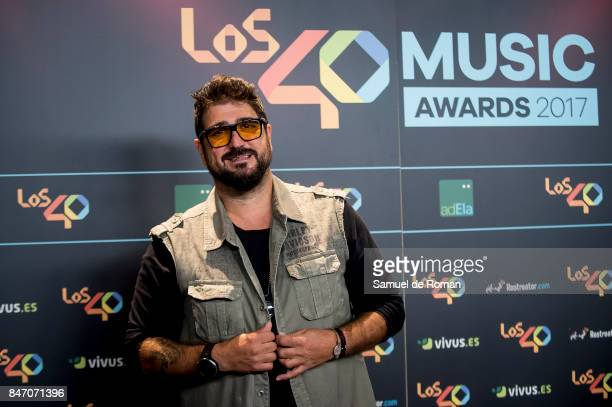 Antonio Orozco attends 40 Principales Awards candidates dinner 2017 on September 14 2017 in Madrid Spain
