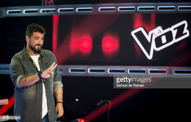 Antonio Orozco during 'La Voz' 5th Edition and 'La Voz Kids' 4th Edition Presentation on July 19 2017 in Madrid Spain