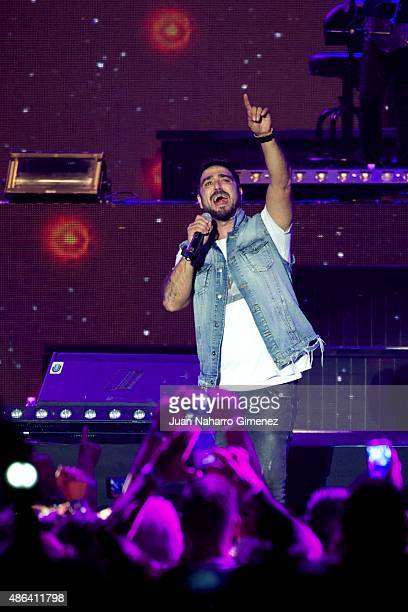 Antonio Orozco performs on stage during 'Cadena Dial' 25th Anniversary concert at Barclaycard Center on September 3 2015 in Madrid Spain