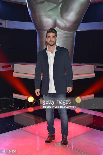 Antonio Orozco poses during a photocall to present the new season of 'La Voz' Tv show at 'Picasso' studios on January 9 2015 in Madrid Spain