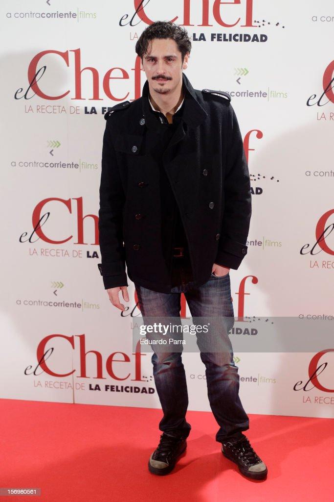 Antonio Pagudo attends 'El chef, la receta de la felicidad' ('Comme un chef') premiere photocall at Palafox cinema on November 26, 2012 in Madrid, Spain.