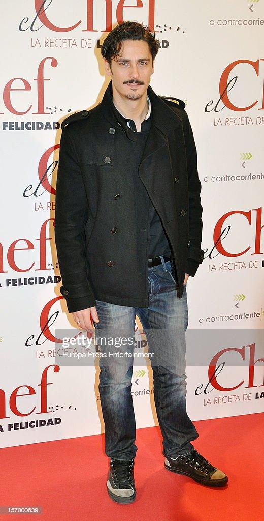 Antonio Pagudo attends 'El Chef, La Receta de la Felicidad' premiere on November 26, 2012 in Madrid, Spain.