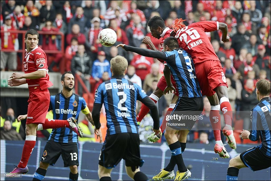 Antonio Pereira Dos Santos Kanu of Standard pictured during the Jupiler League Play-offs 1 match between Standard Liege and Club Brugge , on May 12 , 2013 in Sclessin, Belgium