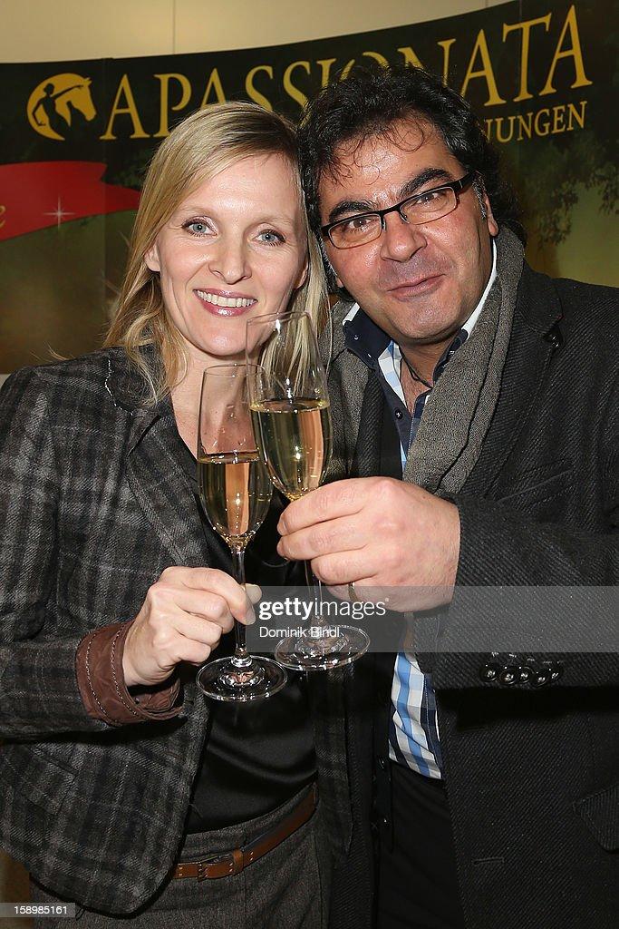 Antonio Putignano and Mirja Mahir attend the show 10 years of Appassionata - Friends Forever on January 4, 2013 in Munich, Germany.
