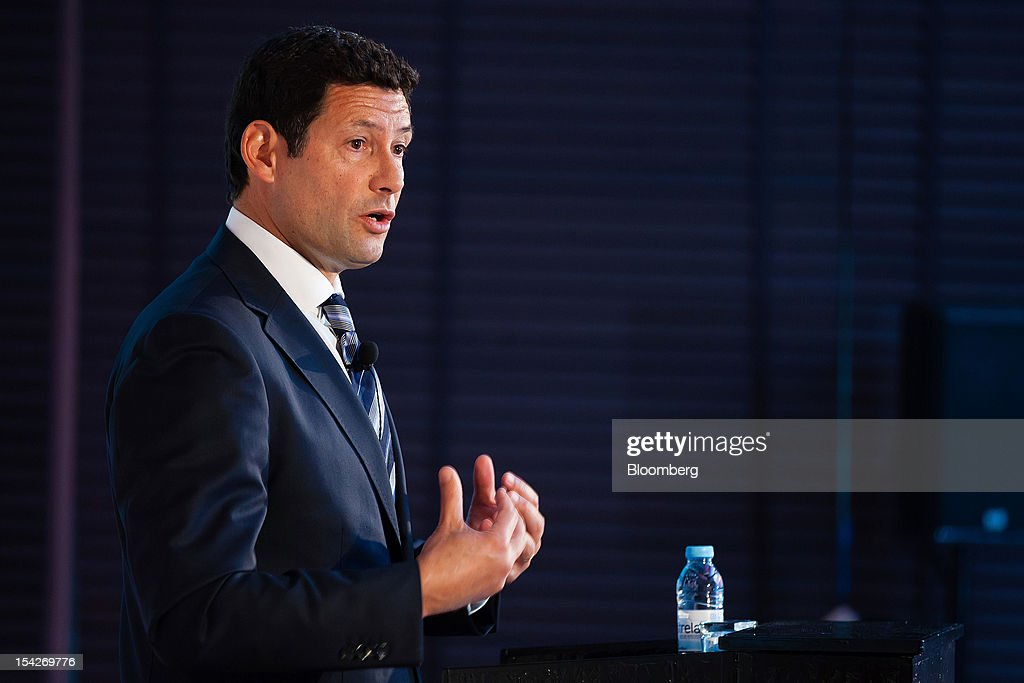 Antonio Raposa de Lima, president of IBM Portugal, speaks during a session at the IBM CEO Forum in Lisbon, Portugal, on Wednesday, Oct.17, 2012. Portuguese business confederation CIP said tax increases included in the government's 2013 budget proposal will result in a deeper contraction of the domestic market. Photographer: Mario Proenca/Bloomberg via Getty Images