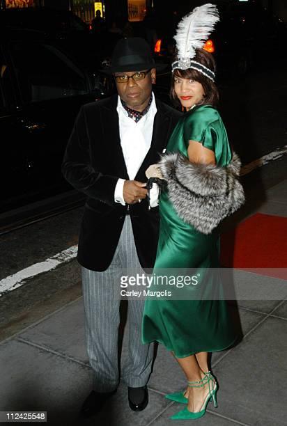 Antonio 'LA' Reid and Erica Reid during Usher's 26th Birthday Party at Rainbow Room in New York City New York United States