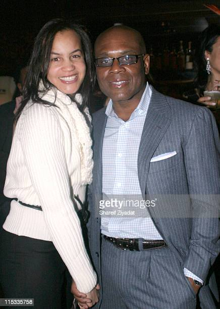Antonio 'LA' Reid and Erica Reid during Veronica Webb's 40th Birthday Party at Mission in New York City New York United States