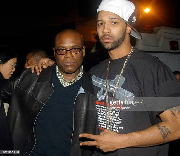 Antonio LA Reid of Def Jam and Joe Budden during Ludacris and Chingy's Concert at Hammerstein Ballroom March 4 2004 at Hammerstein Ballroom in New...