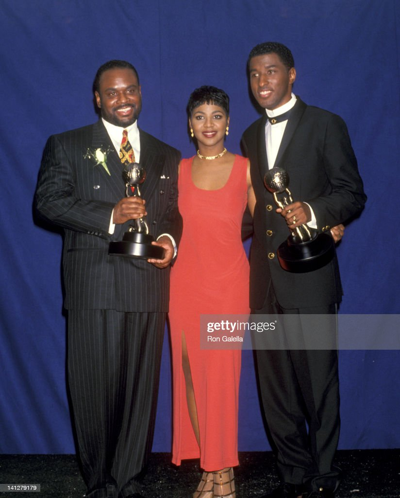 Antonio 'LA' Reid Toni Braxton and Kenneth 'Babyface' Edmonds at the 25th Annual NAACP Image Awards Pasadena Civic Auditorium Pasadena