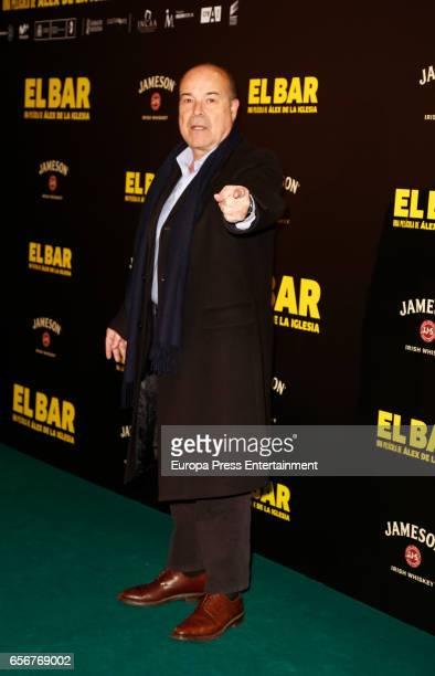 Antonio Resines attends 'El Bar' premiere at Callao cinema on March 22 2017 in Madrid Spain