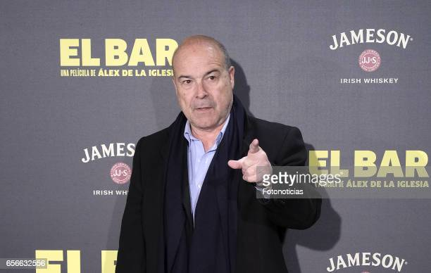 Antonio Resines attends the 'El Bar' premiere at Callao cinema on March 22 2017 in Madrid Spain