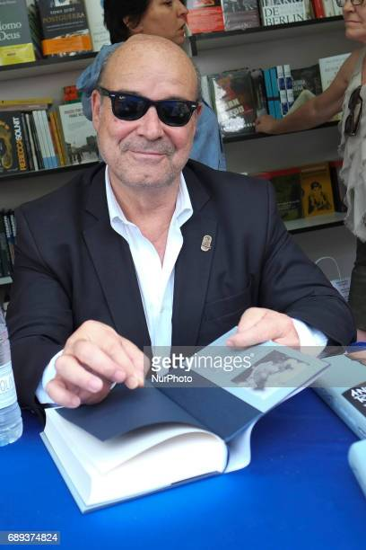 Antonio Resines signs books during the book fair in Madrid held from May 26 to July 11 2017 in Retiro Park in Madrid Spain May 28 2017