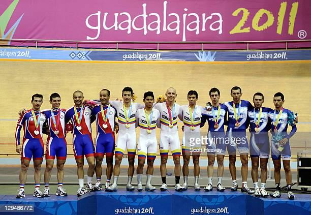 Antonio Roberto Cabrera Gonzalo Sabas Miranda Pablo Jacob Seisdedos and Luis Fernando Sepulveda of Chile Juan Esteban Arango Edwin Avila Arles...