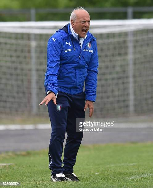 Antonio Rocca head coach of Italy U15 during the Torneo delle Nazioni match between Italy U15 and UAE U15 on April 27 2017 in Gradisca d'Isonzo Italy