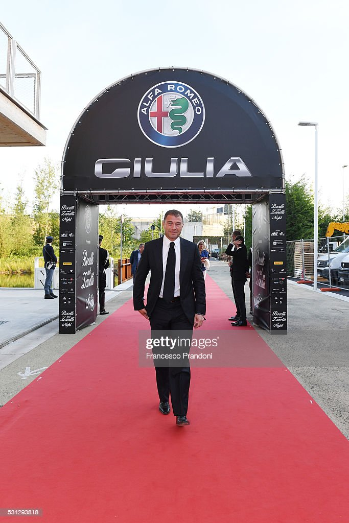 Antonio Rossi arrives at Bocelli and Zanetti Night on May 25, 2016 in Rho, Italy.