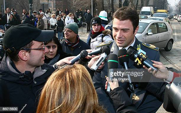 Antonio Rossi attends Candido Cannavo's funeral on February 24 2009 in Milan Italy Candido Cannavo was the former editor in chief of La Gazzetta...