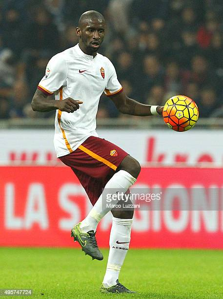 Antonio Rudiger of AS Roma in action during the Serie A match between FC Internazionale Milano and AS Roma at Stadio Giuseppe Meazza on October 31...