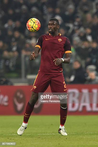 Antonio Rudiger of AS Roma in action during the Serie A match between Juventus FC and AS Roma at Juventus Arena on January 24 2016 in Turin Italy