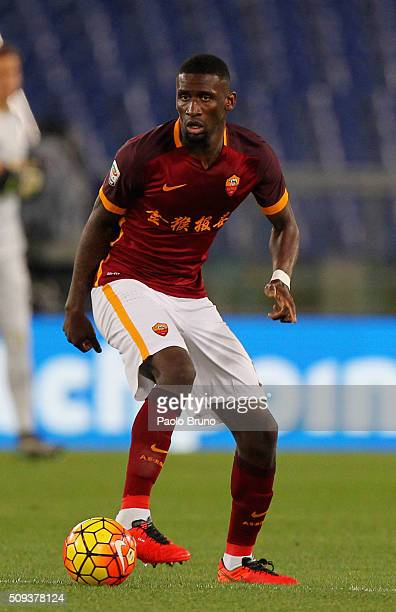 Antonio Rudiger of AS Roma in action during the Serie A match between AS Roma and UC Sampdoria at Stadio Olimpico on February 7 2016 in Rome Italy