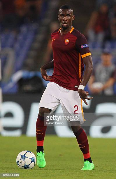 Antonio Rudiger of AS Roma in action during the UEFA Champions League Group E match between AS Roma and FC Barcelona at Stadio Olimpico on September...