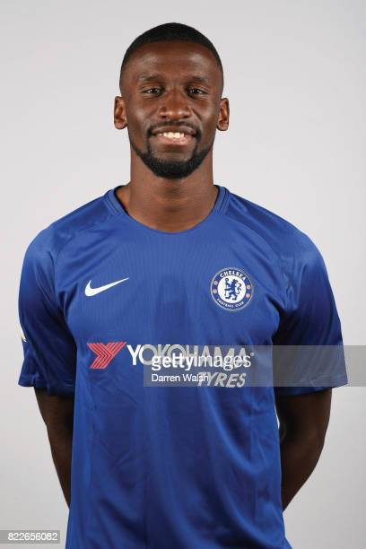 Antonio Rudiger of Chelsea after he's signed a 5 year contract at Chelsea Training Ground on July 9 2017 in Cobham England