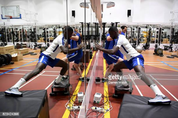 Antonio Rudiger of Chelsea during a gym session at the Singapore American School on July 27 2017 in Singapore