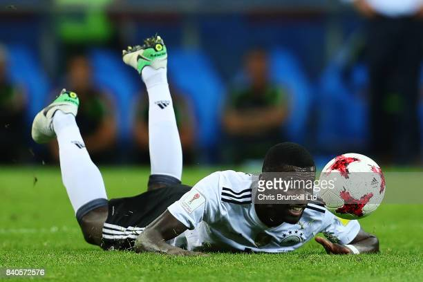 Antonio Ruediger of Germany in action during the FIFA Confederations Cup Russia 2017 SemiFinal between Germany and Mexico at Fisht Olympic Stadium on...