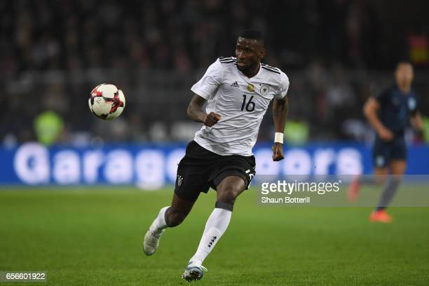 Antonio Ruediger of Germany in action during the international friendly match between Germany and England at Signal Iduna Park on March 22 2017 in...