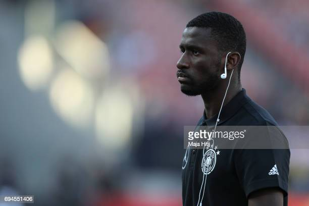 Antonio Ruediger of Germany looks on prior the FIFA 2018 World Cup Qualifier between Germany and San Marino on June 10 2017 in Nuremberg Bavaria