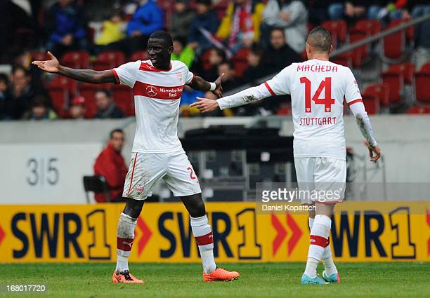 Antonio Ruediger of Stuttgart walks off following his red card during the Bundesliga match between VfB Stuttgart and SpVgg Greuther Fuerth at...