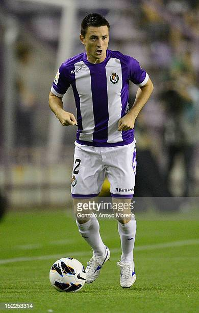 Antonio Rukavina of Valladolid CF controls the ball during the La Liga football match between Real Valladolid CF and Real Betis Balompie at Jose...