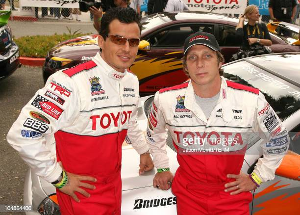 Antonio Sabato Jr and William Fichtner during 30th Anniversary Toyota Pro/Celebrity Race Qualifying Day at Streets of Long Beach in Long Beach...