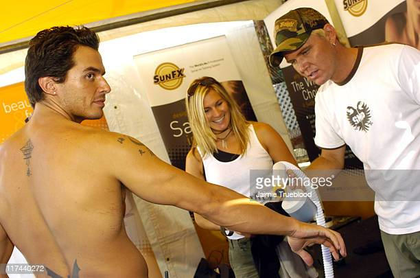 Antonio Sabato Jr at SunFX during Silver Spoon Hollywood Buffet Day Two at Private Estate in Los Angeles California United States Photo by Jaimie...