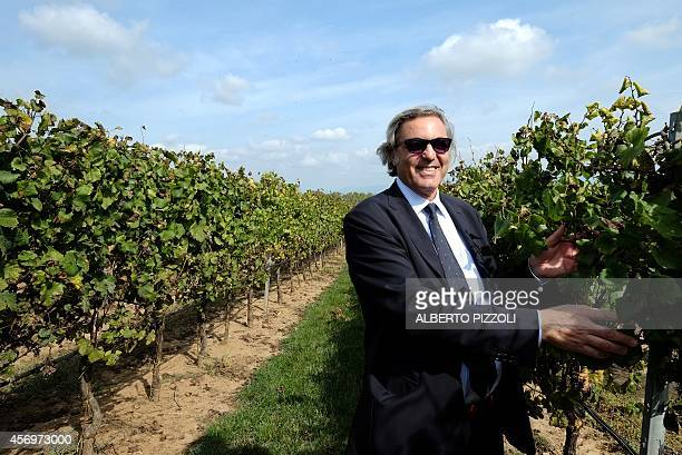 PALASCIANO Antonio Santarelli owner of the Casale Del Giglio winery poses in his vineyard in the small village of Borgo Le Ferriere near Nettuno...