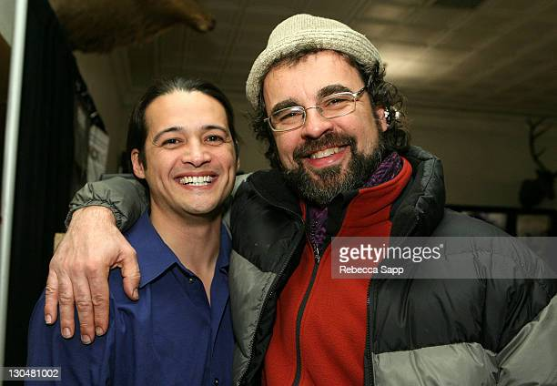 Antonio 'TJ' Dcotor and John Morgan at the Alumni Party/Reception at the Filmmaker Lodge duruing 2008 Sundance Film Festival on January 21 2008 in...