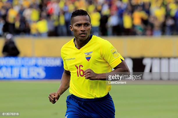 Antonio Valencia of Ecuador looks on during a match between Ecuador and Chile as part of FIFA 2018 World Cup Qualifiers at Olimpico Atahualpa Stadium...