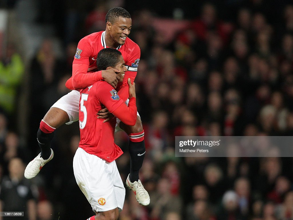 <a gi-track='captionPersonalityLinkClicked' href=/galleries/search?phrase=Antonio+Valencia&family=editorial&specificpeople=543830 ng-click='$event.stopPropagation()'>Antonio Valencia</a> of Manchester United celebrates scoring their fourth goal during the Barclays Premier League match between Manchester United and Wigan Athletic at Old Trafford on December 26, 2011 in Manchester, England.