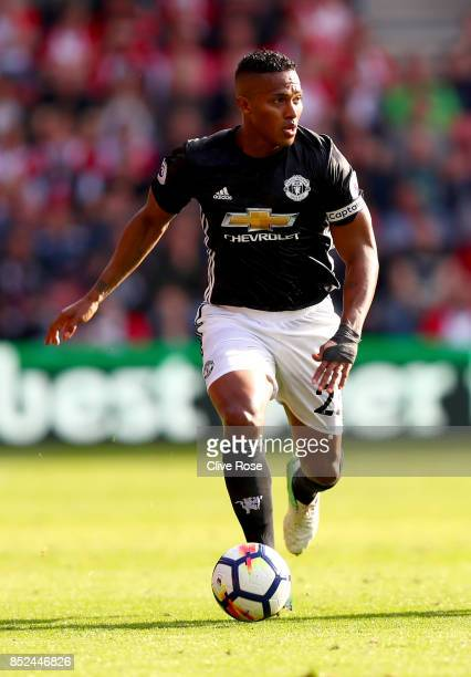 Antonio Valencia of Manchester United in action during the Premier League match between Southampton and Manchester United at St Mary's Stadium on...