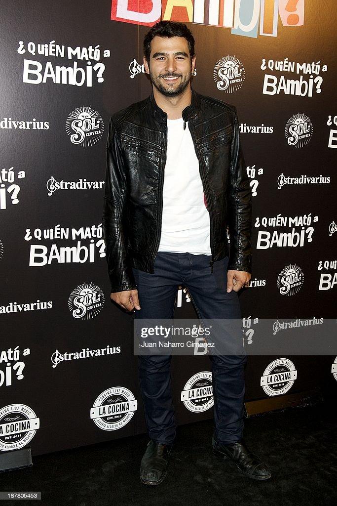 Antonio Velazquez attends 'Quien Mato a Bambi?' premiere at La Cocina Rock Bar on November 12, 2013 in Madrid, Spain.