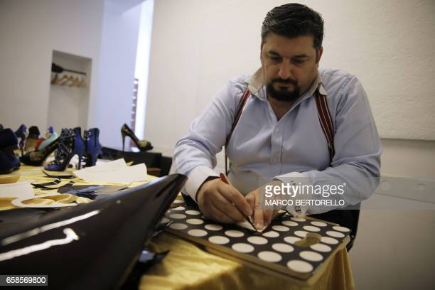 Antonio Vietri artisan and founder of AV Fashion works on March 16 2017 in his workshop in Turin Antonio Vietri made a crazy bet selling 24carat gold...