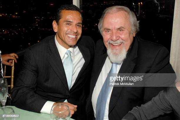Antonio Villaraigosa and George Schlatter attend Mayor Antonio Villaraigosa celebrates Nikki Haskell's Birthday at Sierra Towers on May 17th 2010 in...