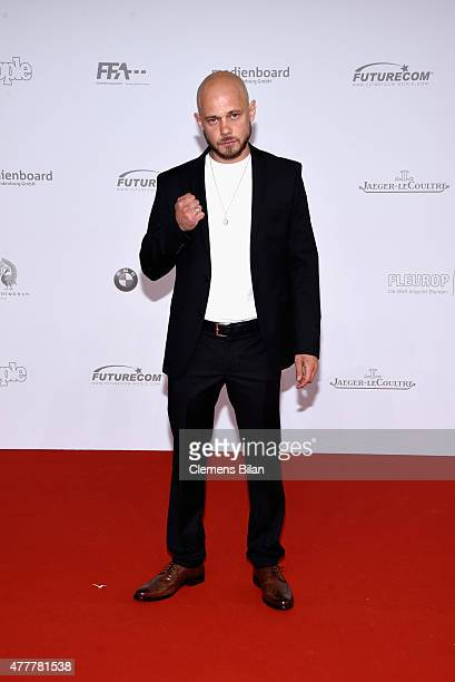 Antonio Wannek arrives for the German Film Award 2015 Lola at Messe Berlin on June 19 2015 in Berlin Germany