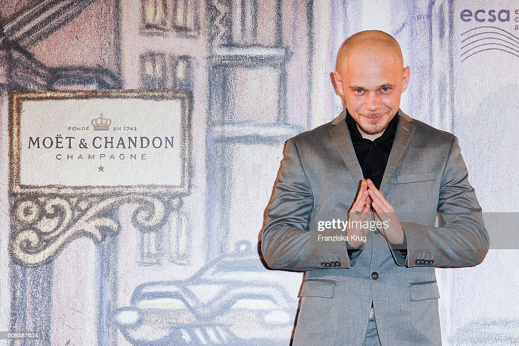 Antonio Wannek attends the Moet & Chandon Grand Scores 2016 at Hotel De Rome on February 6, 2016 in Berlin, Germany.